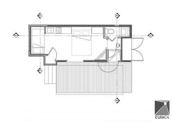 casa fabricada con un contenedor marítimo 10