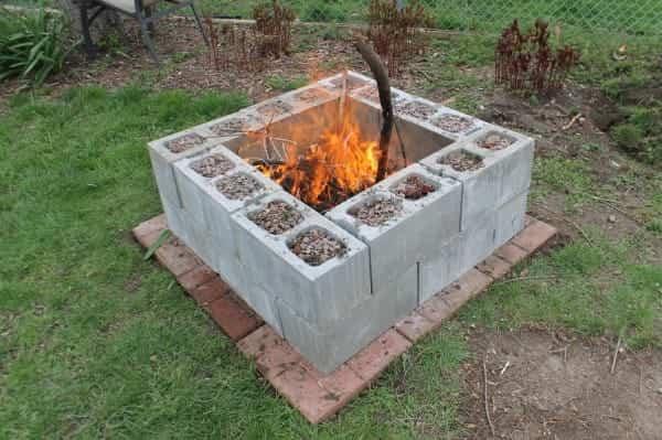 bloques de cemento para decorar 7 chimenea