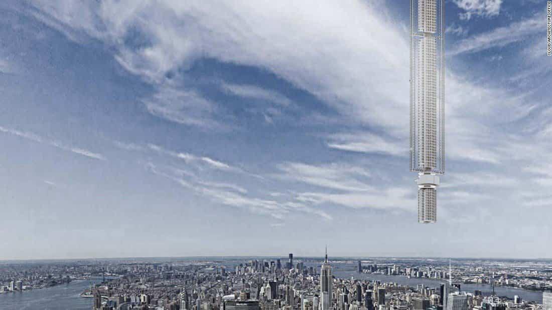 torre analemma suspendida de un asteroide 1