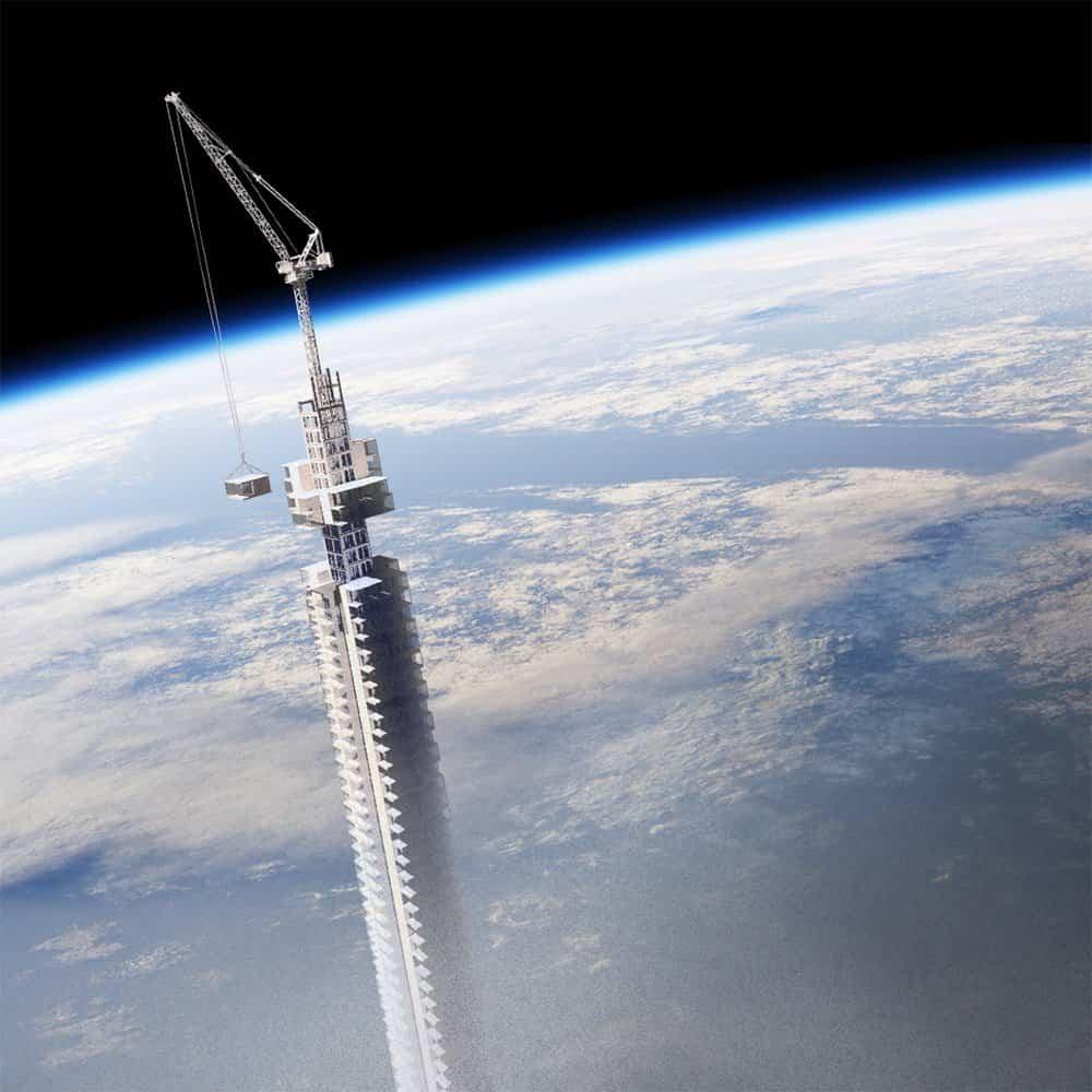 torre analemma suspendida de un asteroide 3