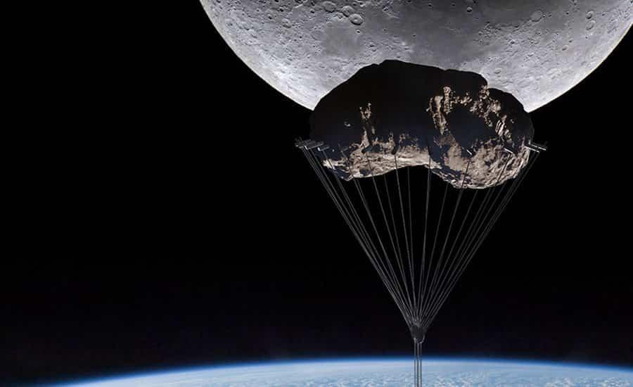 torre analemma suspendida de un asteroide 4