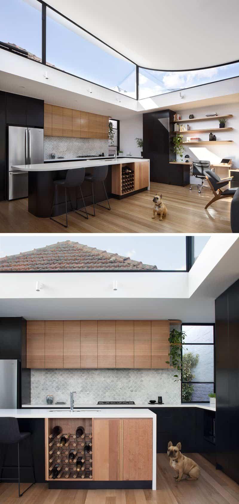 casa con techo curvo 5