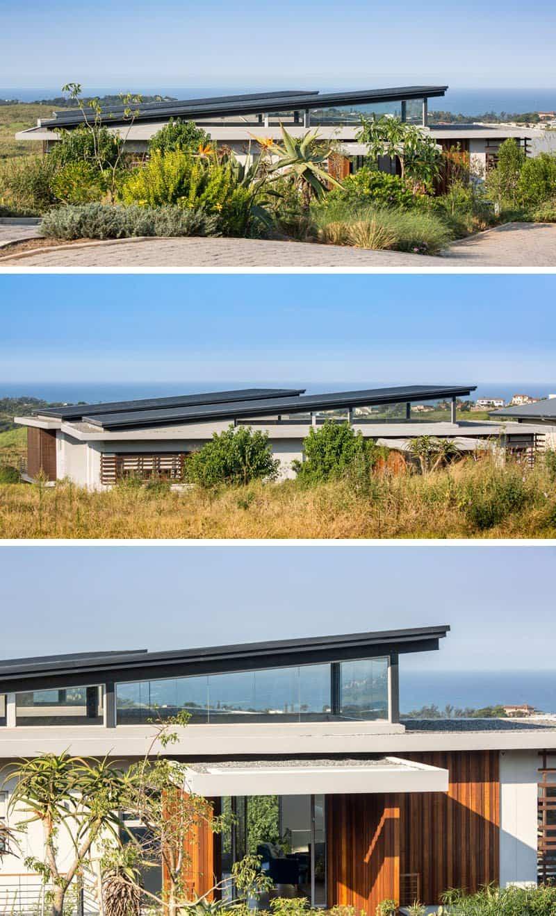 Impresionante casa construida alrededor de una piscina cubierta