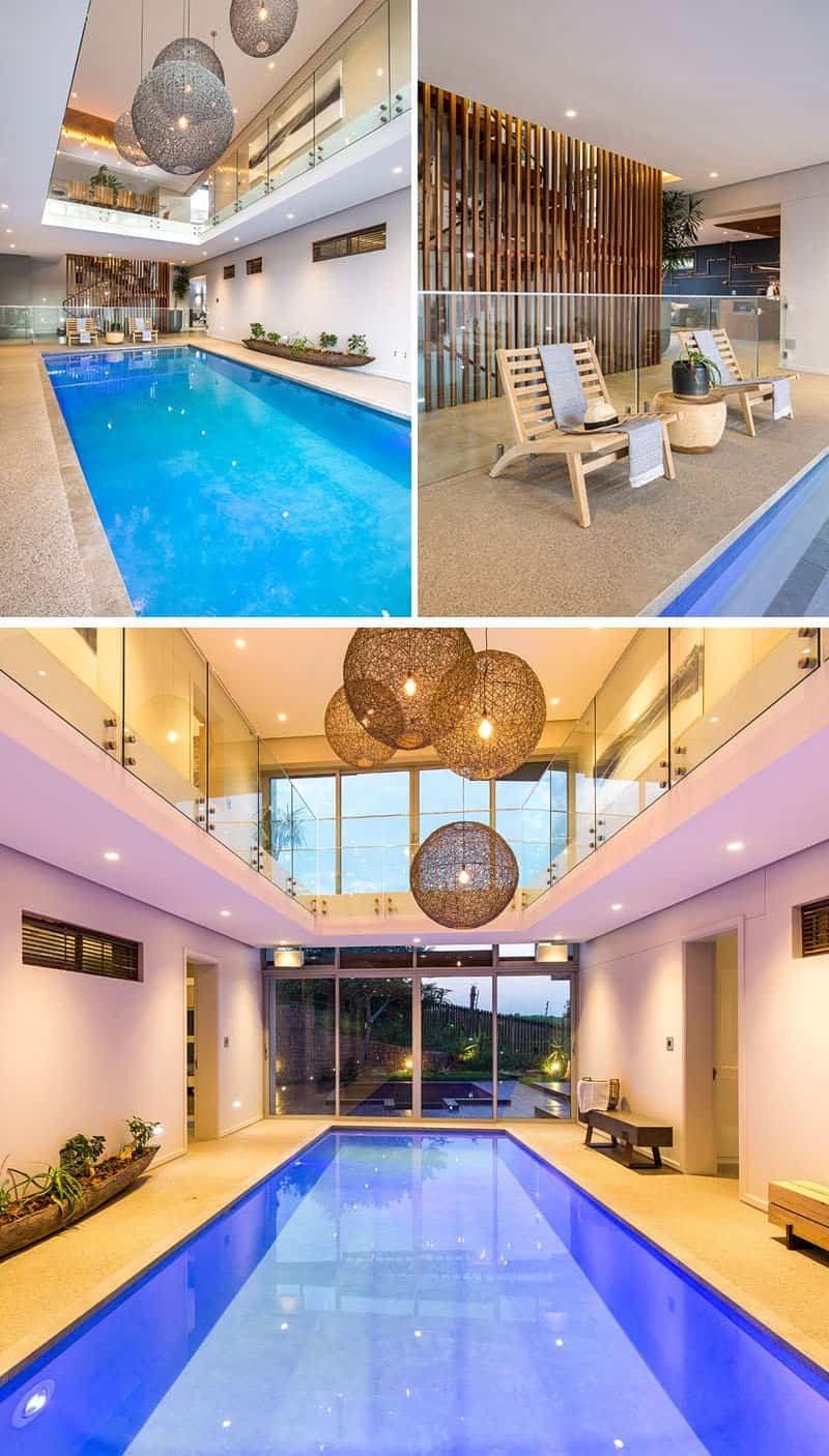 Impresionante casa construida alrededor de una piscina cubierta - Casas con piscina interior ...