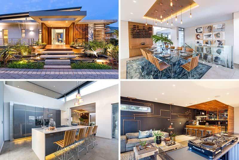 Casa-moderna-alrededor-de-una-piscina-cubierta