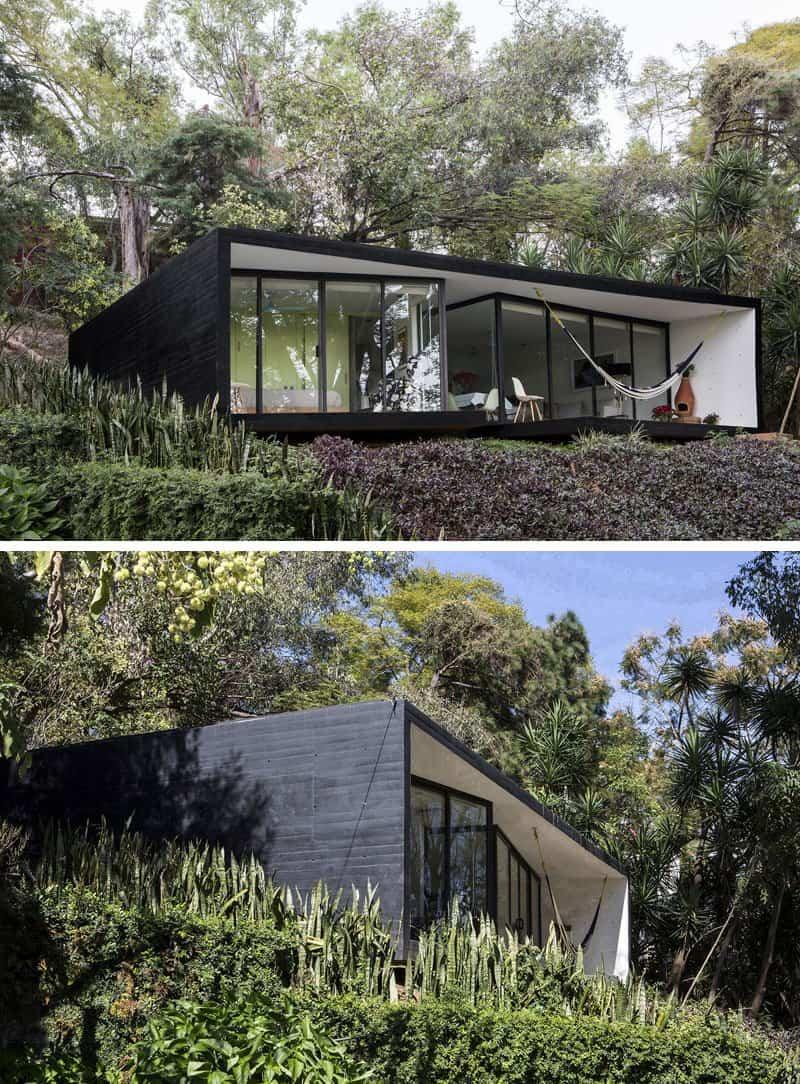 casas modernas con exteriores negros 11