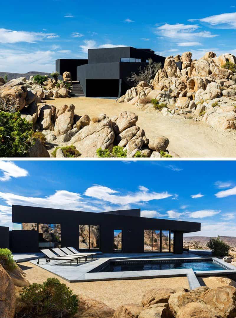 casas modernas con exteriores negros 2