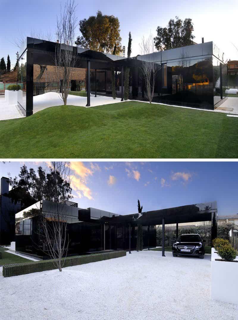 casas modernas con exteriores negros 4