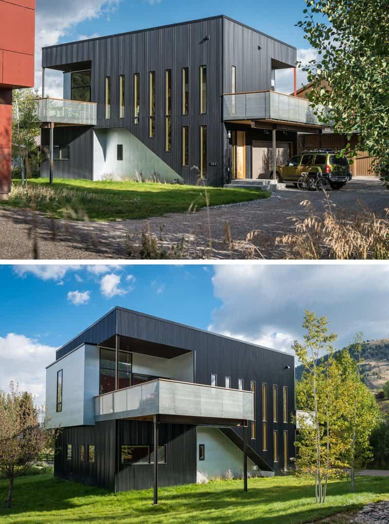 casas modernas con exteriores negros 6