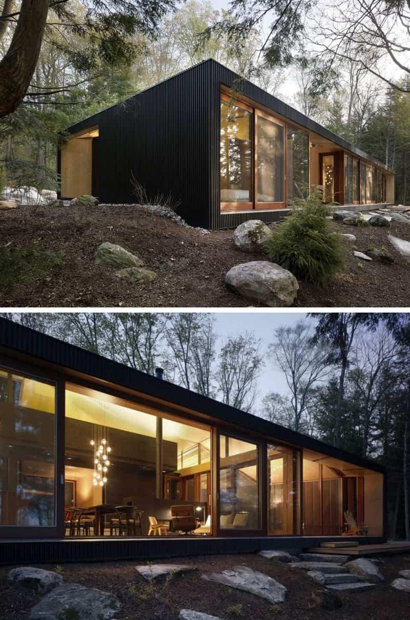 casas modernas con exteriores negros 8