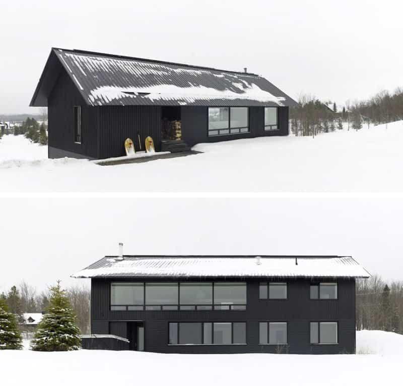 casas modernas con exteriores negros 9
