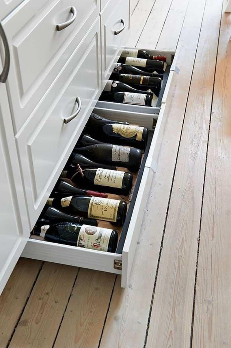 5 sorprendentes ideas de almacenamiento de vino para la cocina