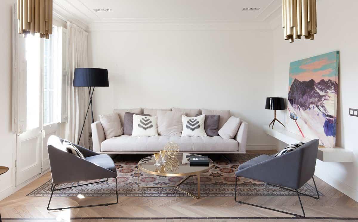 Apartamento en calle Aribau de Barcelona por YLAB arquitectos