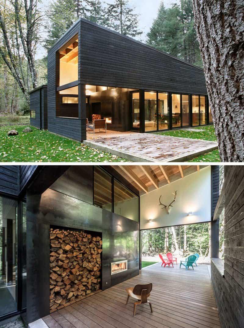 Casa de campo moderna dise ada pr xima a un r o for Casa moderna de campo