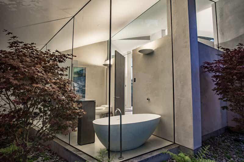 casa esculturas de acero inoxidable 5