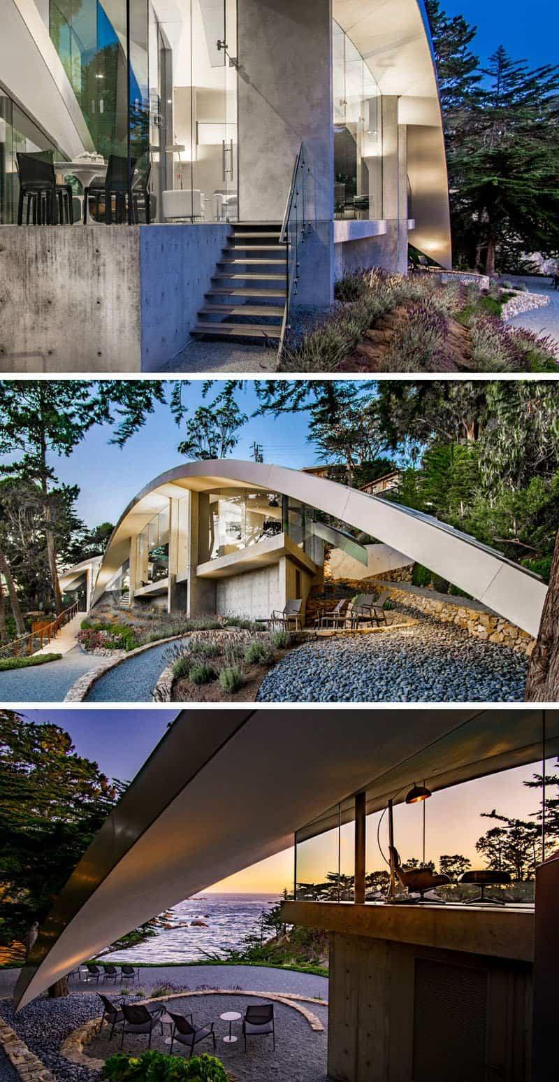 casa esculturas de acero inoxidable 7