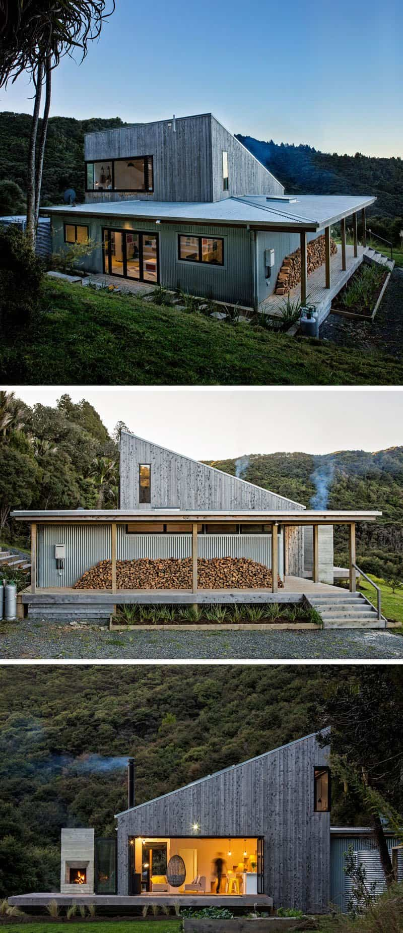 Casa rural en nueva zelanda con un dise o muy llamativo - Casas rurales grandes ...