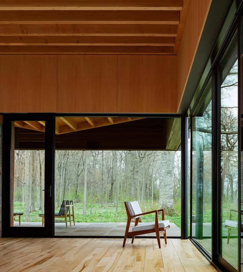 casa techo con forma de mariposa 8