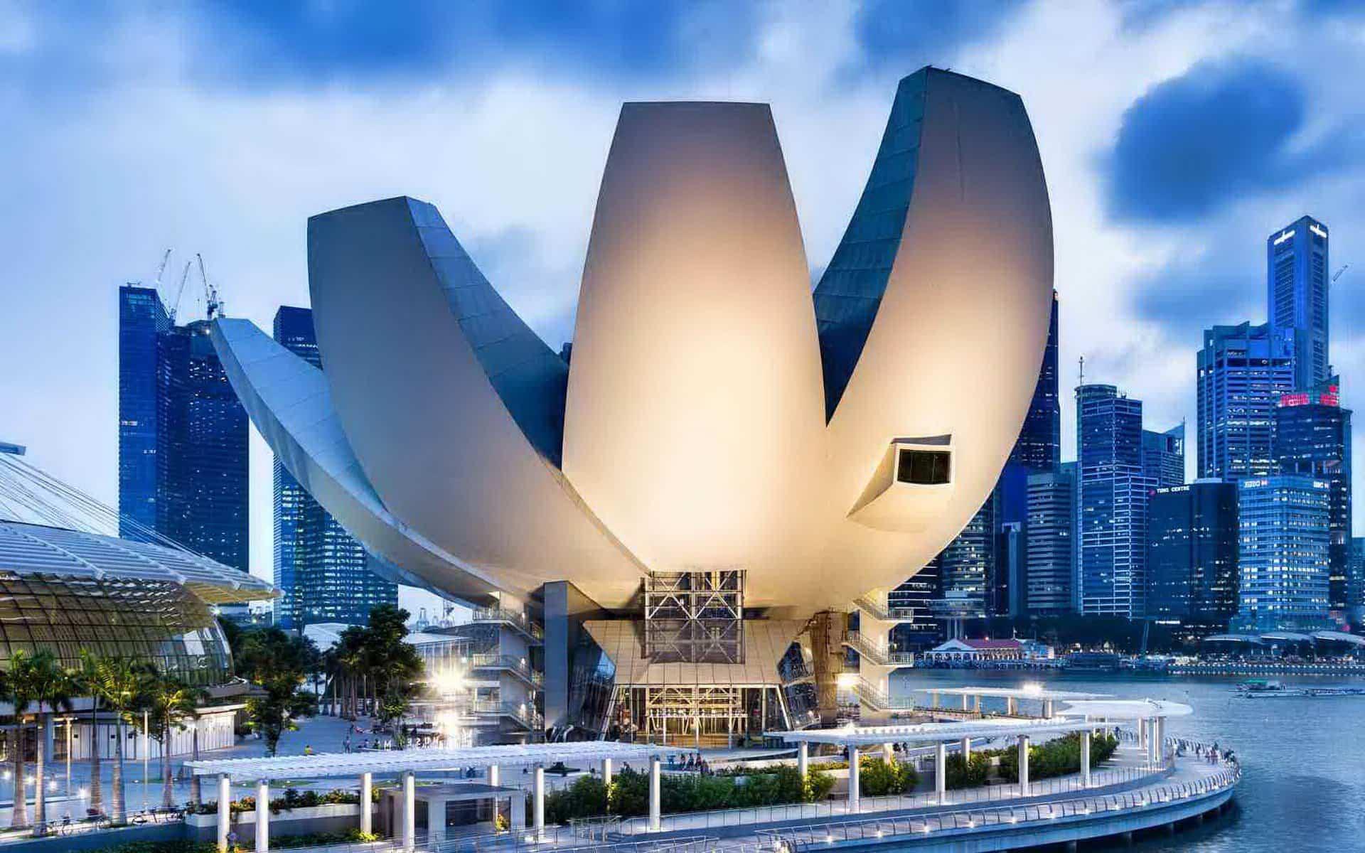 proyectos arquitectura moderna 7 museo de arte y ciencia en singapur