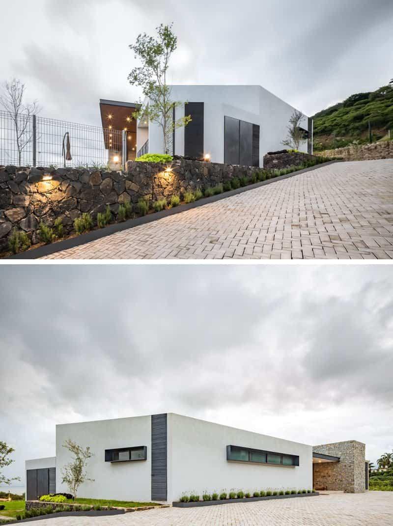 casa moderna con techo inclinado 3