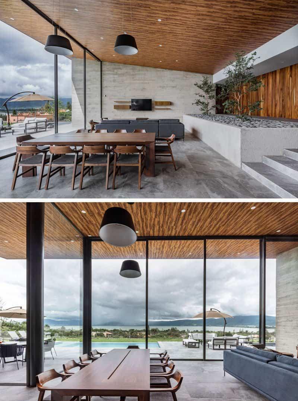casa moderna con techo inclinado 5