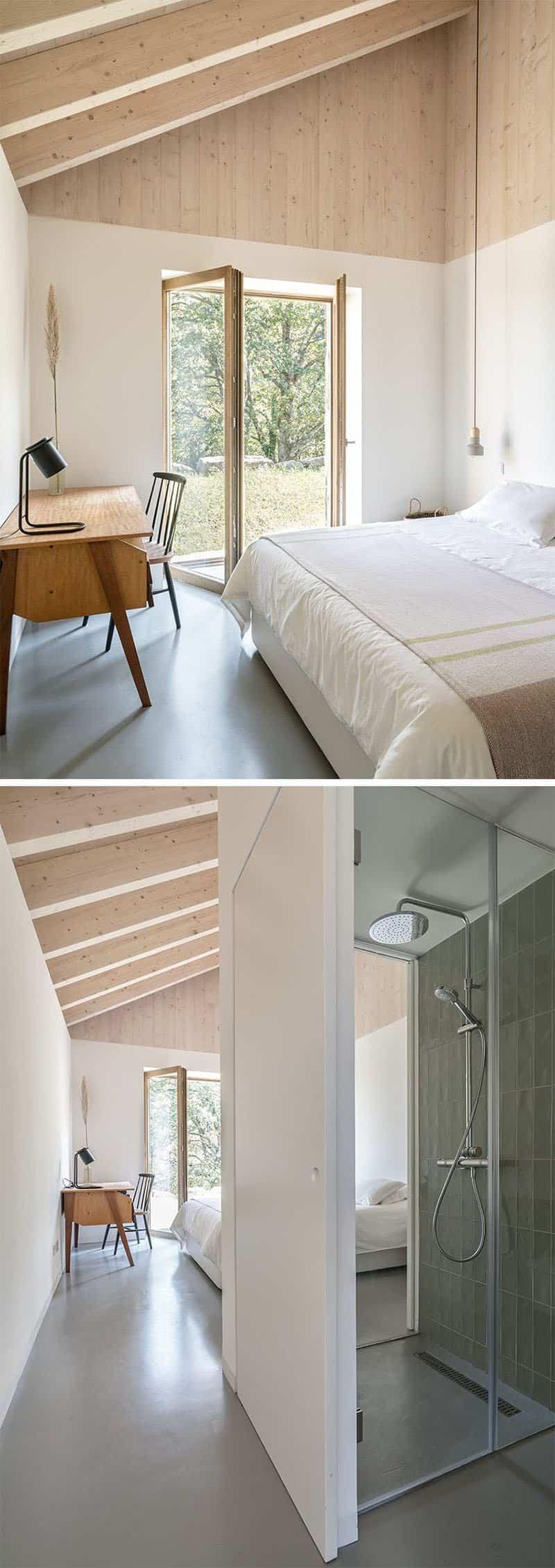casa de piedra con interior contemporaneo 11