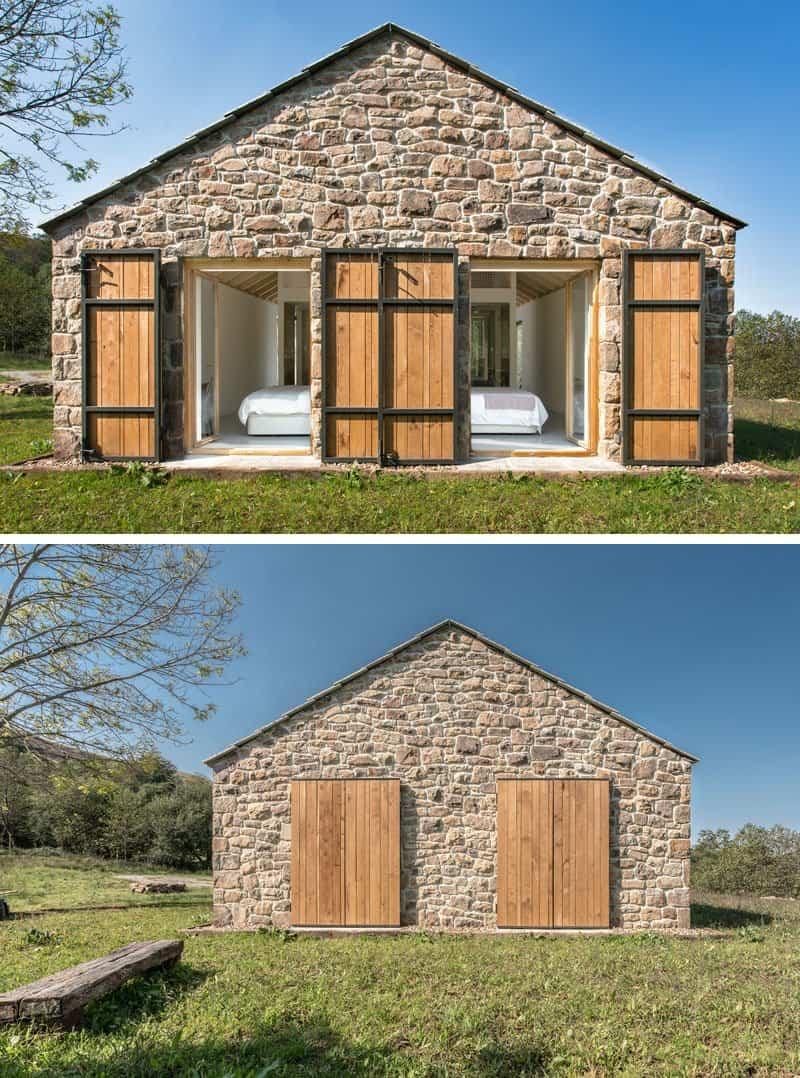 casa de piedra con interior contemporaneo 12