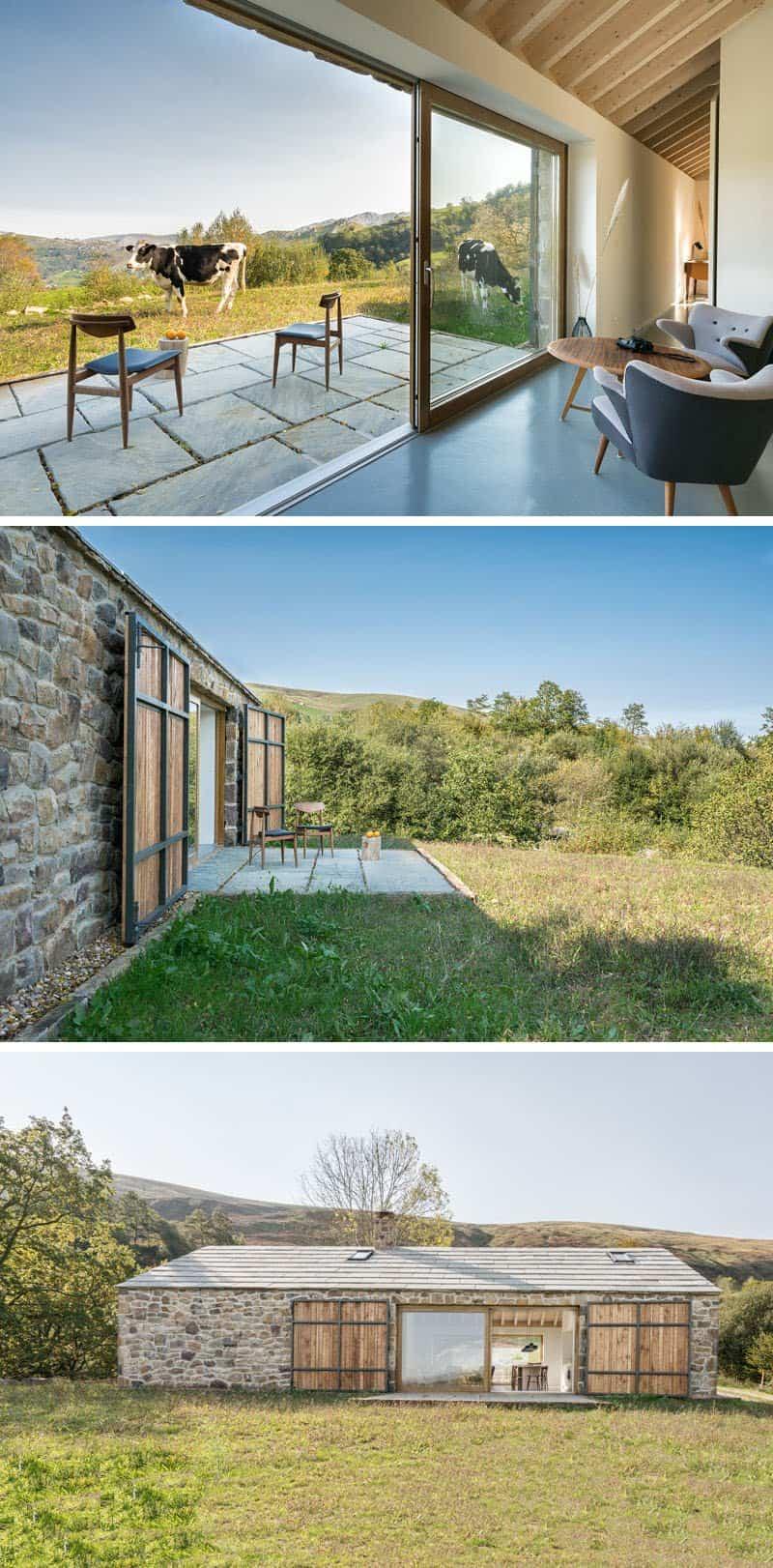 casa de piedra con interior contemporaneo 5