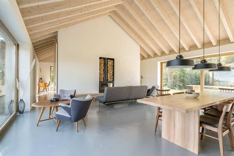 casa de piedra con interior contemporaneo 6