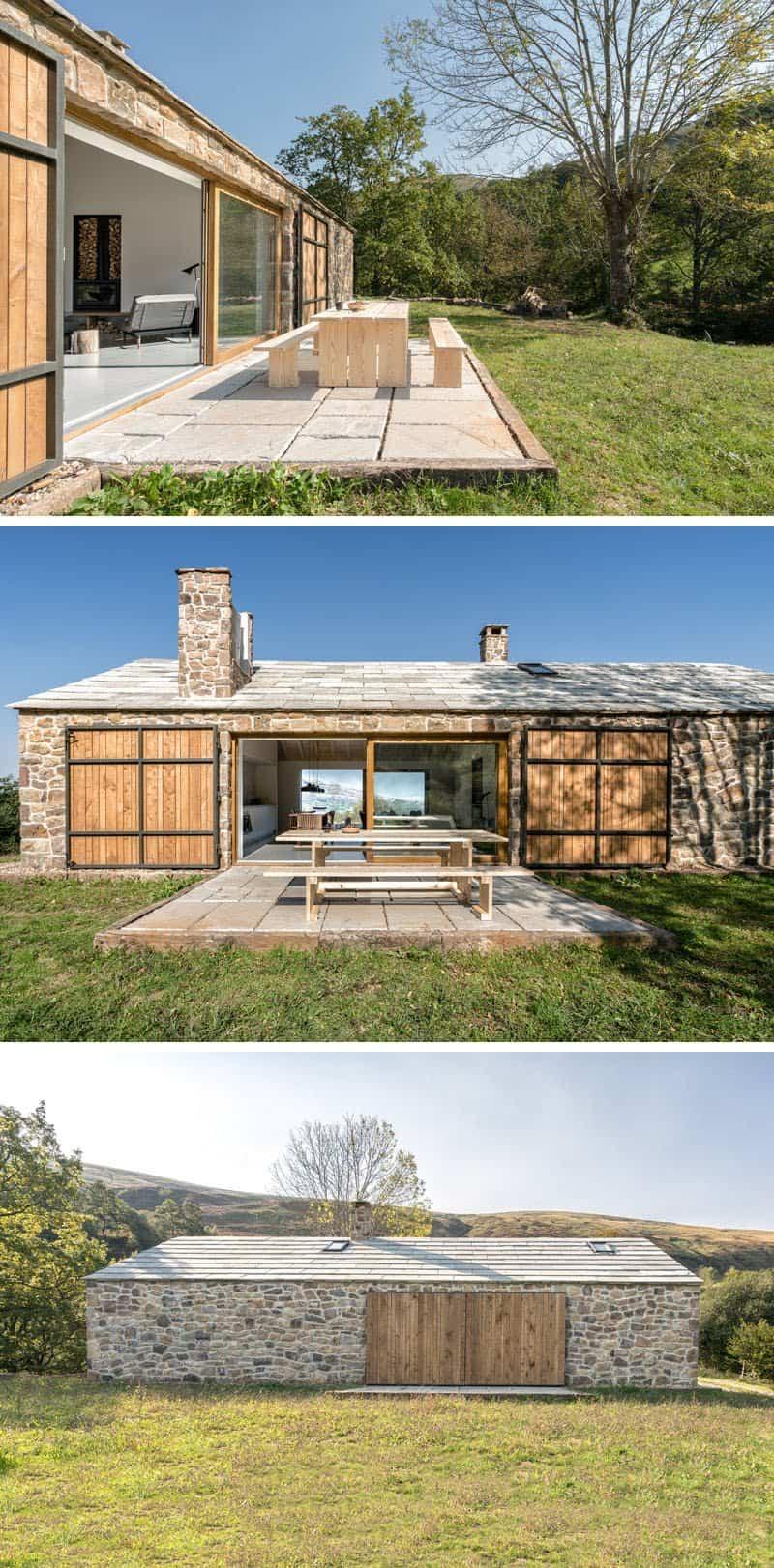casa de piedra con interior contemporaneo 7