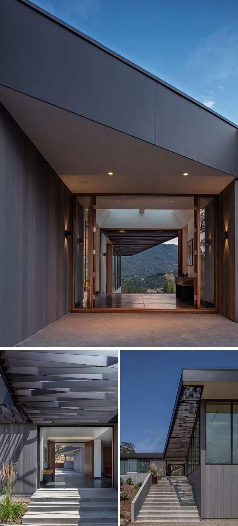 Diseño moderno de una casa con vistas panorámicas al valle de Sonoma