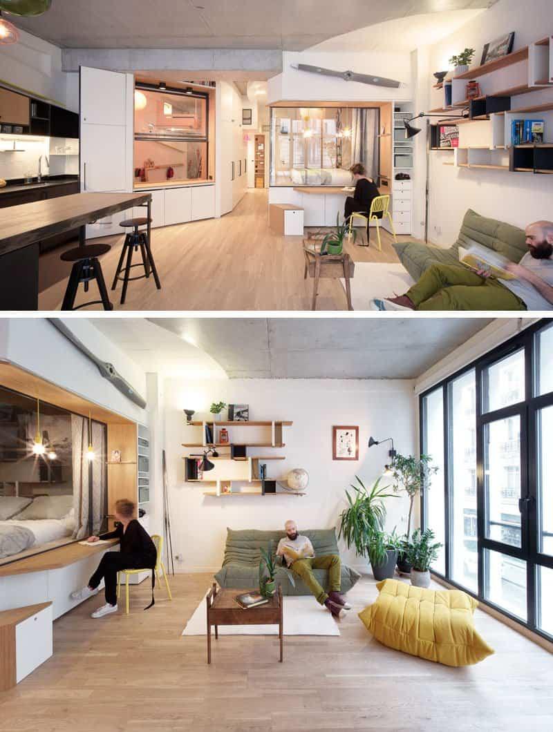 Apartamento con gran número de soluciones creativas para espacios pequeños