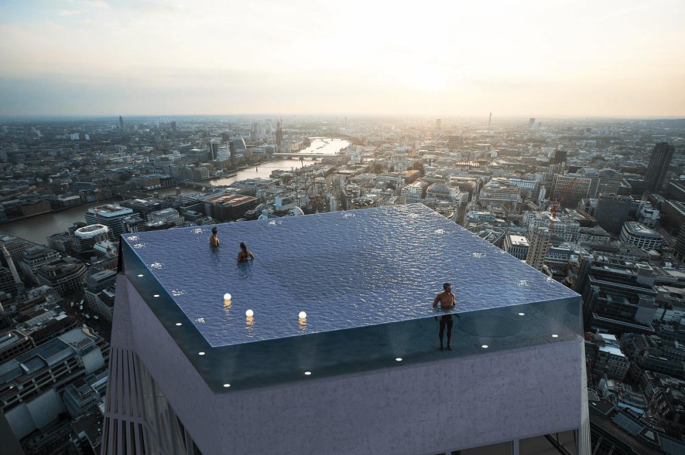 Piscina que desafía a la muerte con vistas de 360º de Londres