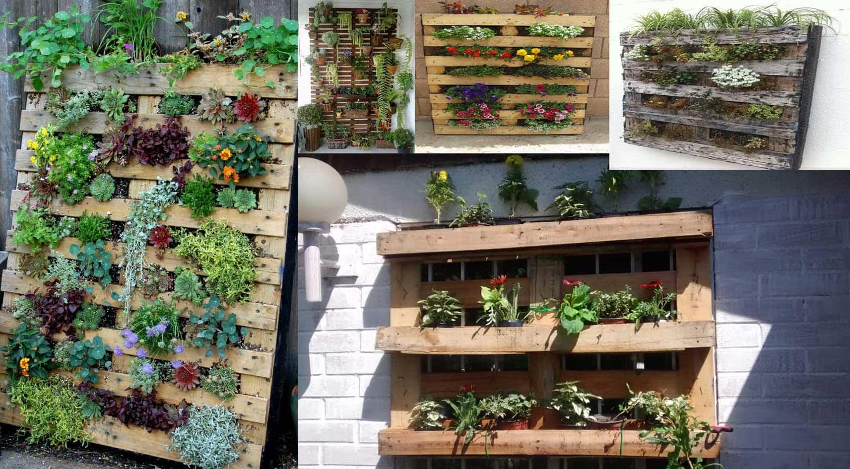 jardinera vertical palets madera