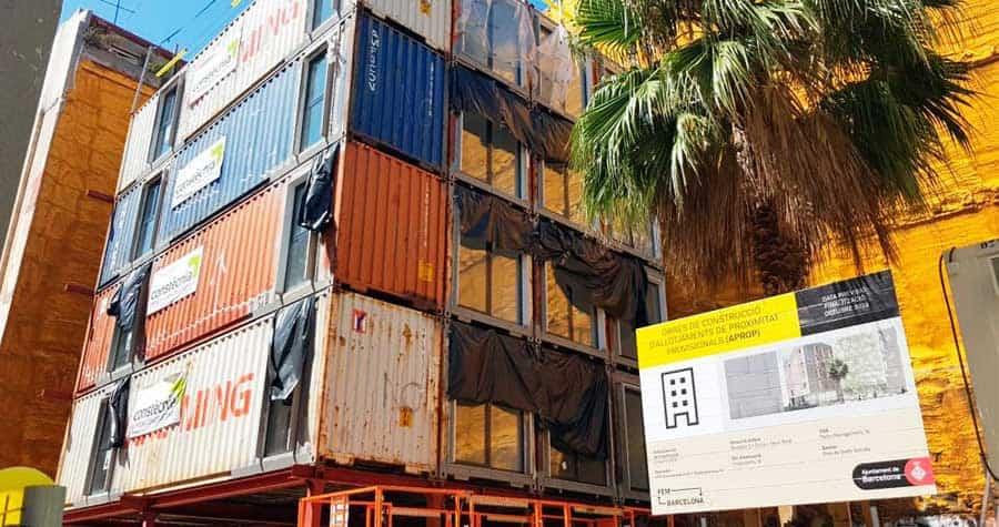 Las casas contenedor de Barcelona, un proyecto innovador en pleno corazón de la ciudad