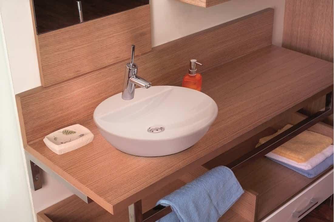 lavabo redondo sobre encimera elik r ibano