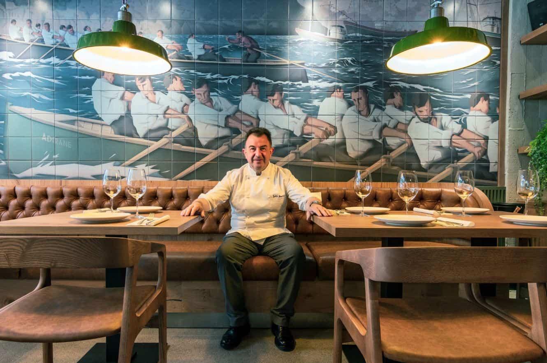 HI-MACS plasma los orígenes del chef Martín Berasategui para su nuevo restaurante en Mallorca