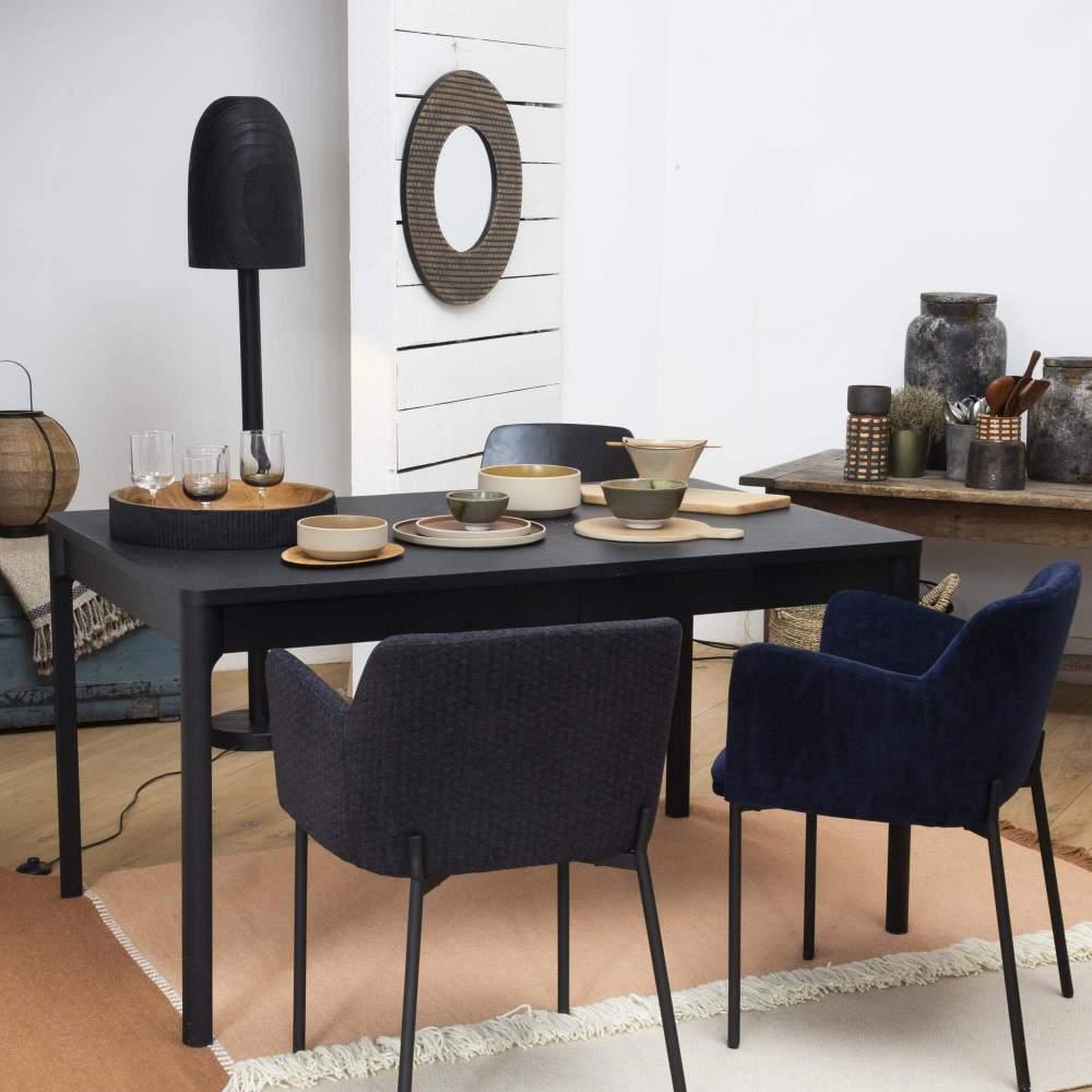 mesa de comedor extensible fresno negro 1333777